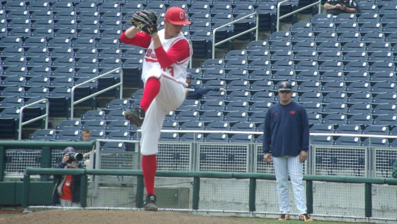 Ohio State sophomore right-hander Travis Lakins has decided to forego two years of eligibility.