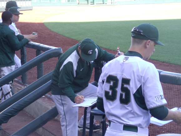 Michigan State's Mark Van Ameyde (left) helped turned the Spartans into a regional contende rled by pitching.