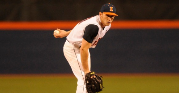 Tyler Jay's live left-arm picked up two weekend decisions. (Illini Athletics)