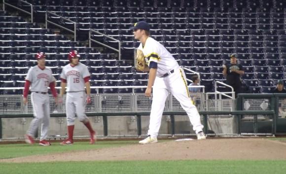 Michigan sophomore left-hander Brett Adcock was named Big Ten Pitcher of the Week