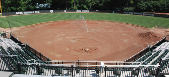 Michigan State is adding a heating system to its grass baseball infield. (Michigan State athletics)