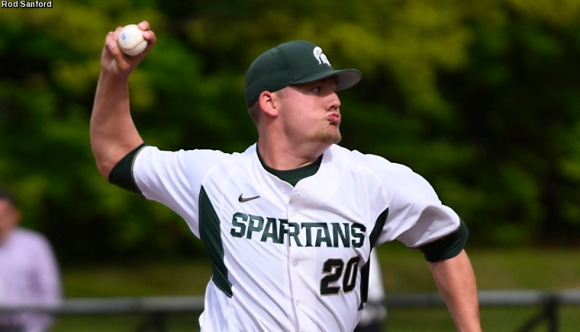 All-American closer Dakota Mekkes powered a dominant Spartan bullpen (MSU Athletics)