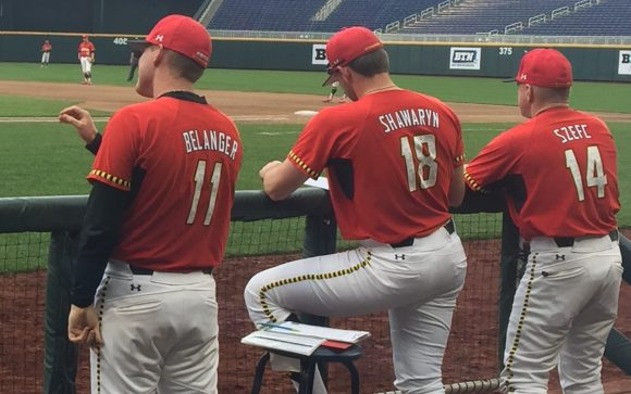 Maryland head coach John Szefc (right) must replace pitching coach Jimmy Belanger (left).