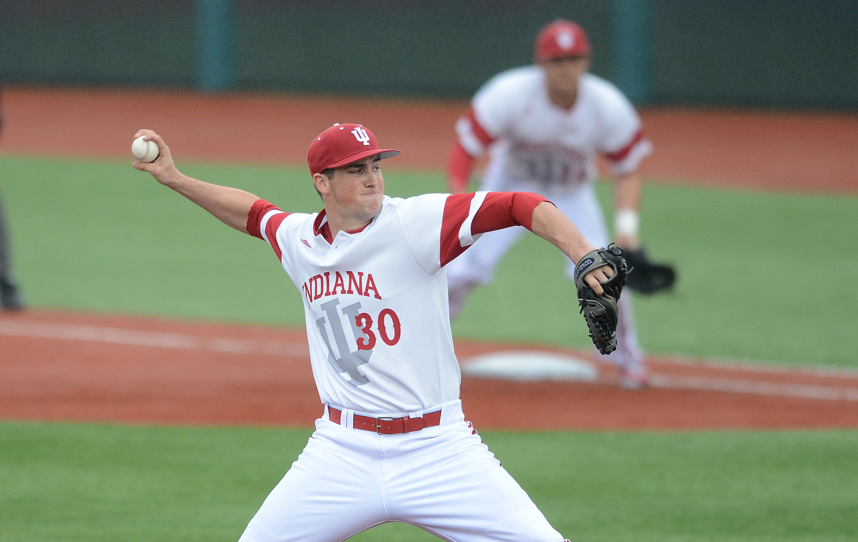 Indiana junior right-handed pitcher Brian Hobbie was named the Prospect League Pitcher of the Year. (Photo: IUHooisers.com)