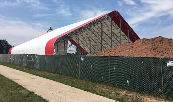 The Fred Hill Training Complex is becoming a reality. (Photo Rutgers Softball)